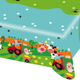Amscan Farm Fun Tablecover
