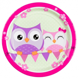 Amscan Owls Plates