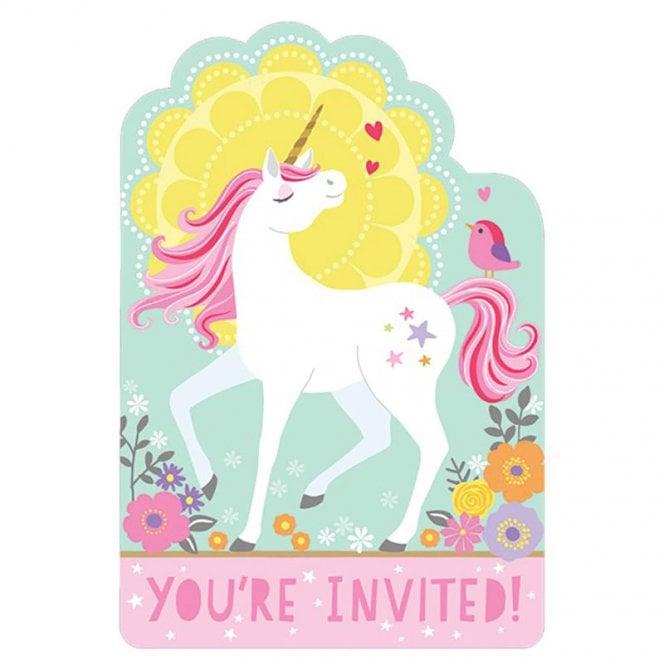 Party Invitations Magical Unicorn