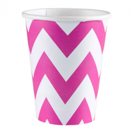 Amscan Pink Chevron Cups
