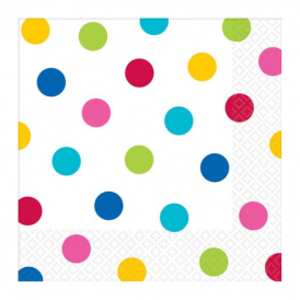 Amscan Rainbow Dot Napkins