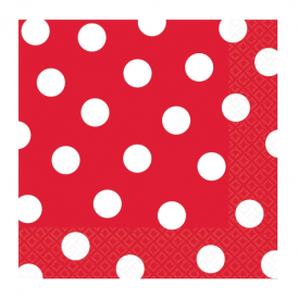 Amscan Red Dots Napkins