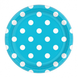 Amscan Turquoise Dot Plates