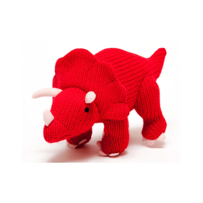 Best Years Knitted Red Triceratops