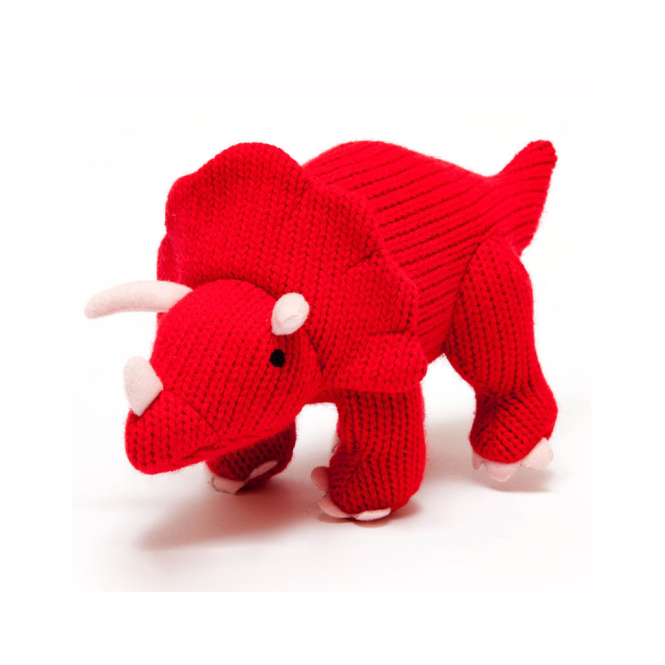 Best Years Mini Red Triceratops Rattle