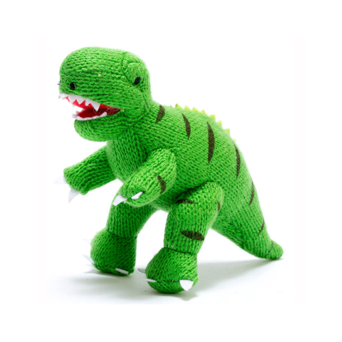 Best Years Mini T-Rex Rattle Green