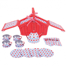 Big Jigs Tin Tea Set & Basket