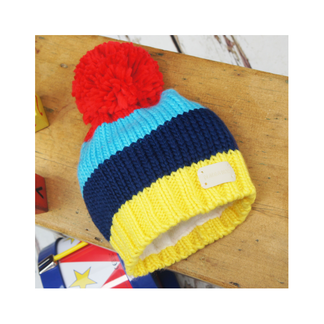 Blade & Rose Bobble Hat Bright Stripe
