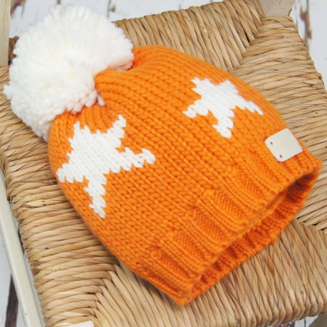 Blade & Rose Bobble Hat Orange Star
