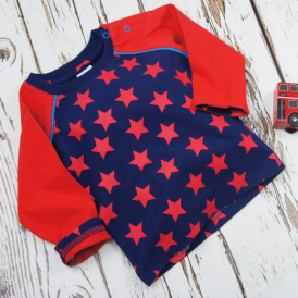 Blade & Rose Navy & Red Star Top
