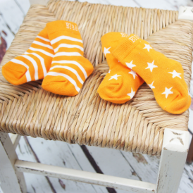 Blade & Rose Socks Orange Stripe/Star