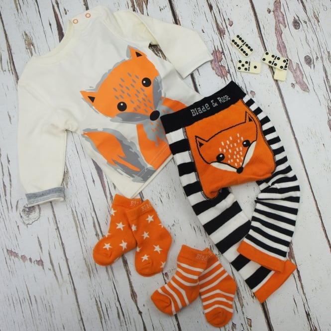 Blade /& Rose Socks Orange Stripe//Star