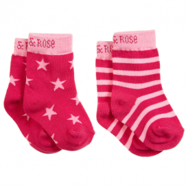 Blade & Rose Socks Pink Stars & Stripes