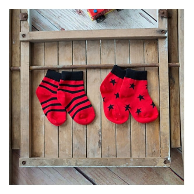 Blade & Rose Socks Red & Black
