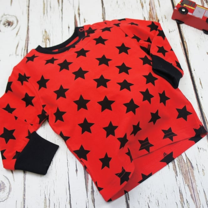 Blade & Rose Top Red & Black Stars