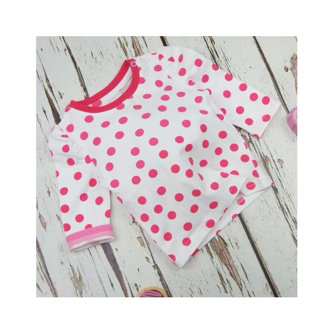 Blade & Rose Top White and Pink Spot