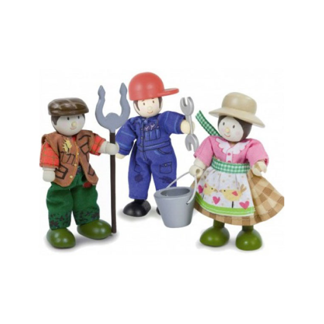 Le Toy Van Budkins - Gift Pack - Farmer, wife and mechanic