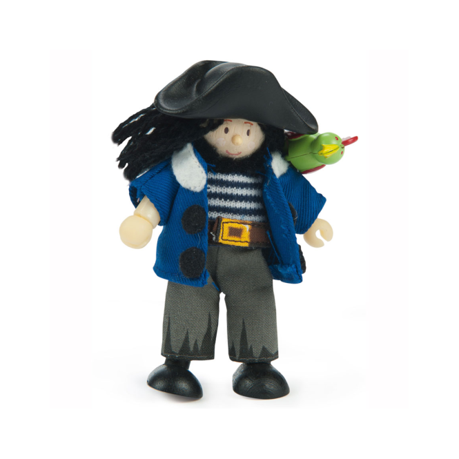 Le Toy Van Budkins Jolly Pirate with Parrot