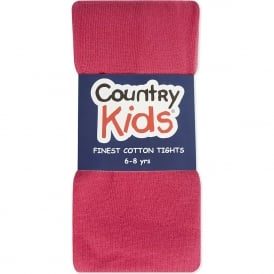 Country Kids Cotton Tights Hot Pink
