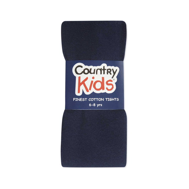 Country Kids Cotton Tights Navy