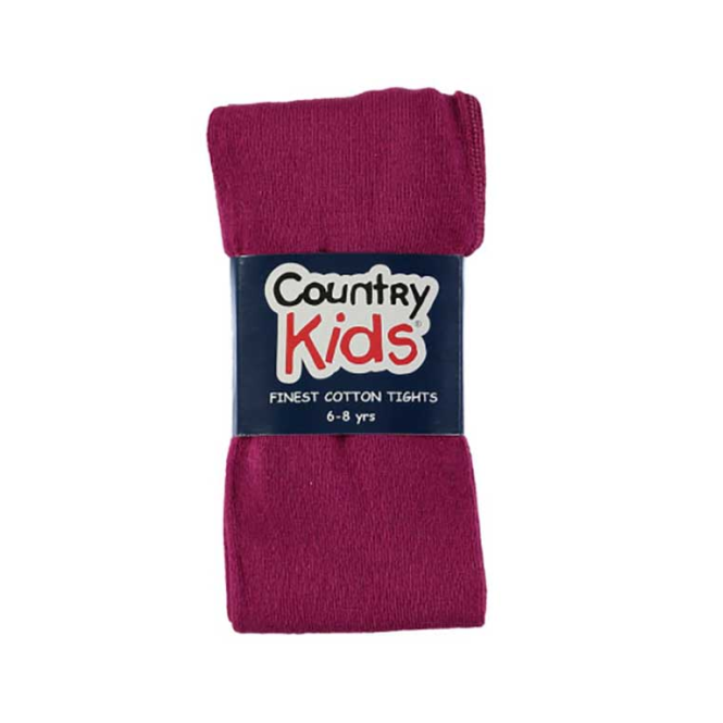 Country Kids Cotton Tights Plum