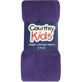 Country Kids Cotton Tights Purple