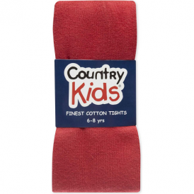 Country Kids Cotton Tights Red