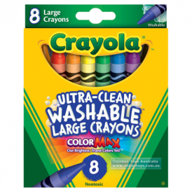Crayola 8 Ultra Clean Washable Large Crayons