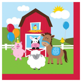 Creative Party Farm Friends Napkins