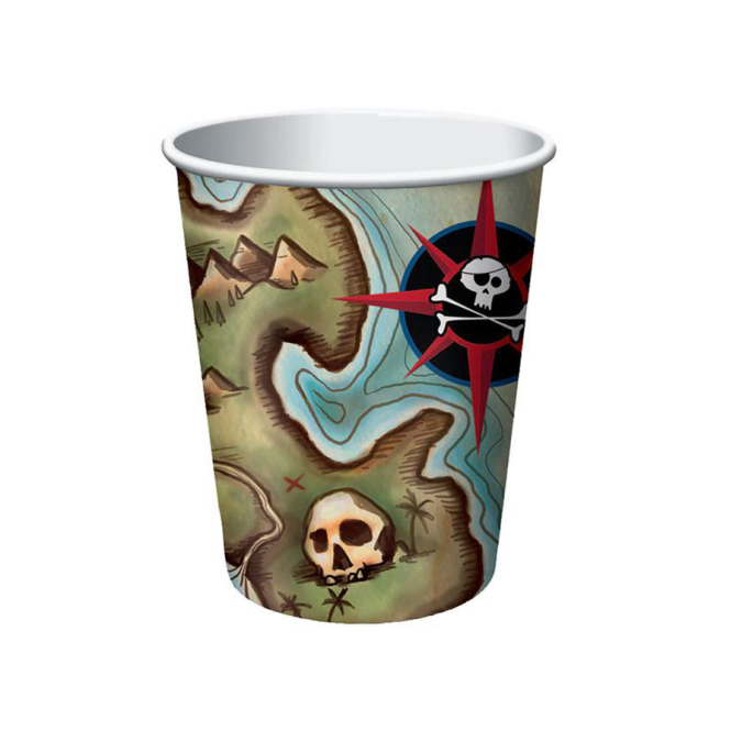 Creative Party Pirate Map Cups