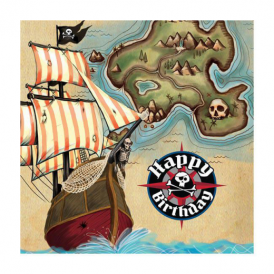 Creative Party Pirate Map Napkins