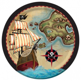 Creative Party Pirate Map Plates