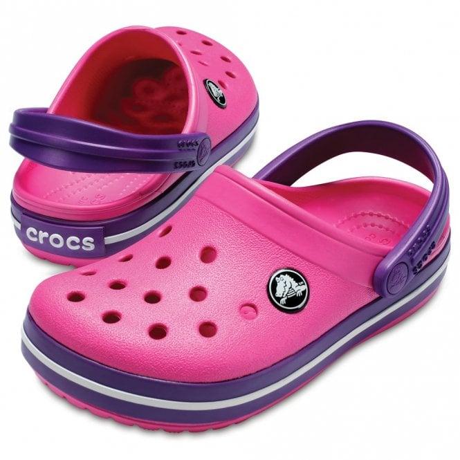 Crocs Kids Crocbands Paradise Pink