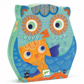 Djeco 24pc Puzzle Hello Owl