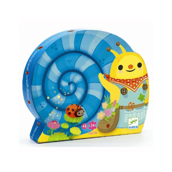 Djeco 24pc Puzzle Snail Goes Plant Picking