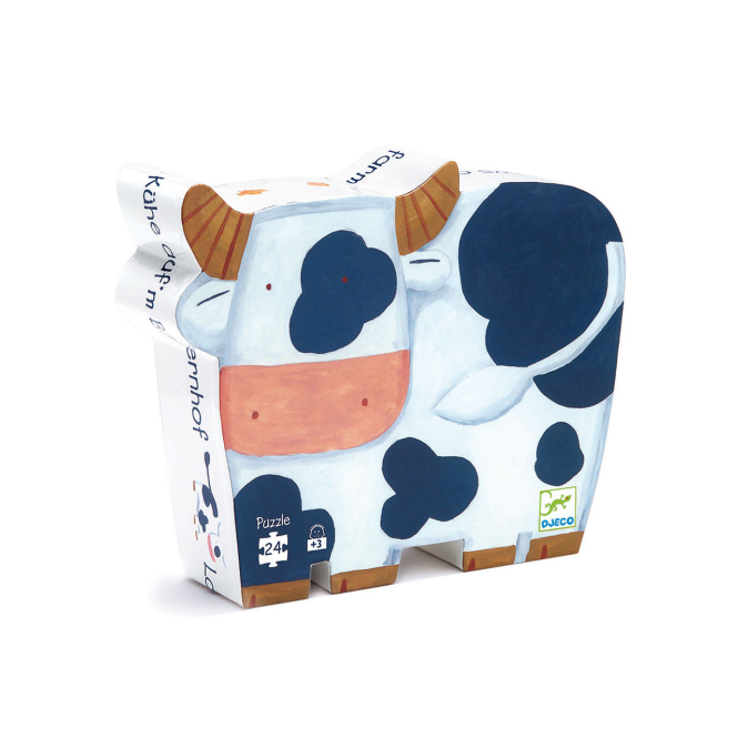 Djeco 24pc Puzzle The Cows on the Farm
