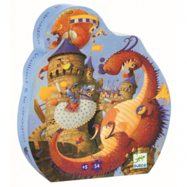 Djeco 54pc Puzzle Vaillant & The Dragon