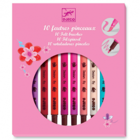 Djeco Felt Brushes 10 Girls