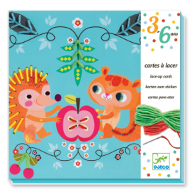 Djeco Lace-up Cards Friends