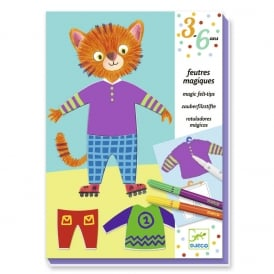 Djeco Magic Felt Tips Elliot & Zoes Clothes