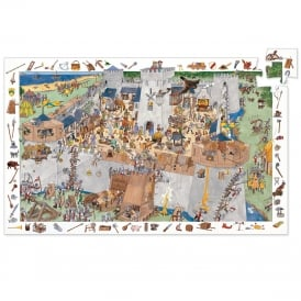 Djeco Observation Puzzle 100pc Fortified Castle