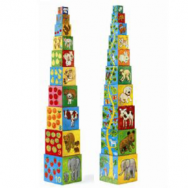 Djeco Stacking Cubes 10 My friends Blocks