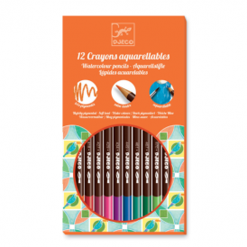Djeco Watercolour Crayons 12 Classic