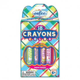 Eeboo Big Crayons Blue Plaid