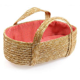 Egmont Carrycot Straw Red Lining