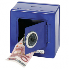 Goki Metal Safe With Combination Lock Blue