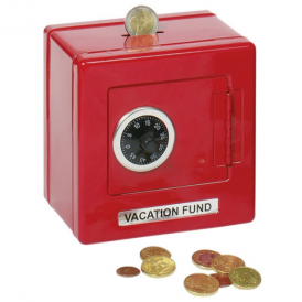 Goki Metal Safe With Combination Lock Red