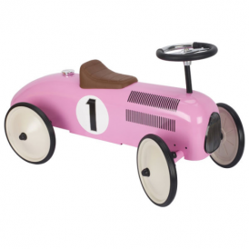 Goki Ride On Vehicle Pink Racing Car