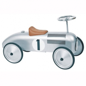 Goki Ride On Vehicle Silver Racing Car