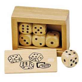 Goki Wooden Dice Boxed 6